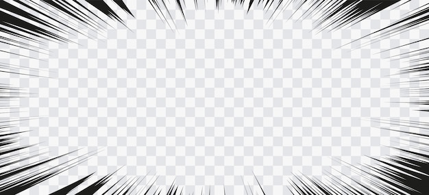 Comic-aktionslinien. geschwindigkeitslinien manga rahmen