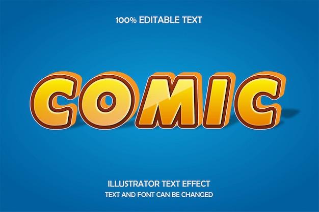 Comic, bearbeitbarer texteffekt moderner schattenstil