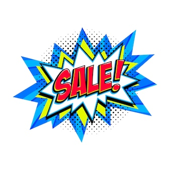 Comic blue sale bang ballon - pop-art-stil rabatt promotion banner.