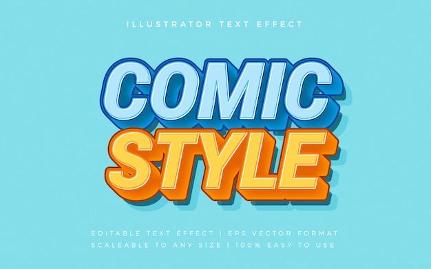 Comic bold text style schriftart effekt