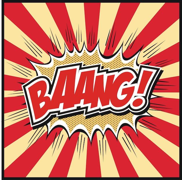 Comic-buch-sprechblase mit schimpfwörter symbole retro-comics