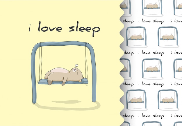 Comic cartoon flach kätzchen schlafen süß