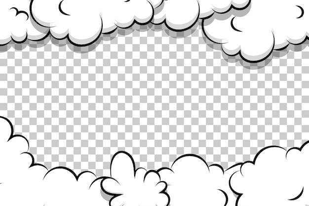 Comic cartoon puff cloud