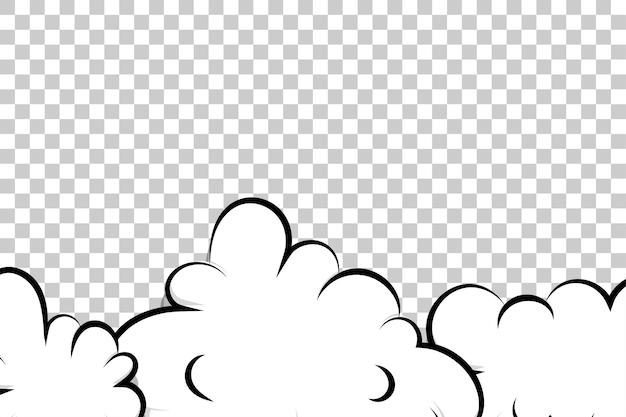Comic-cartoon-puffwolkenschablonen-pop-art für text