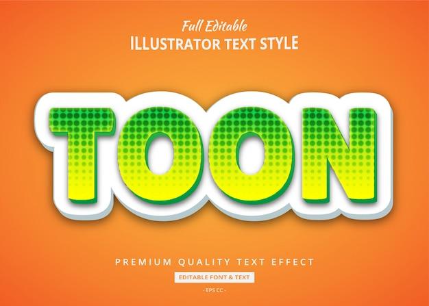 Comic cartoon text style effekt Premium Vektoren