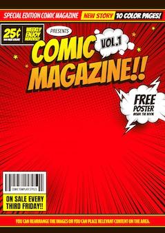 Comic-cover-vorlage hintergrund.