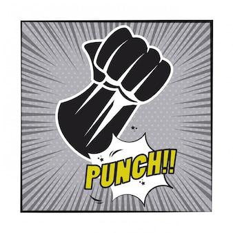 Comic-explosions-pop-arten-karikatur in schwarzweiss