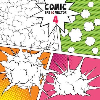 Comic explosions- und raucheffekt