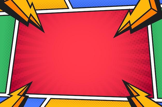 Comic-hintergrund mit halbton-effekt
