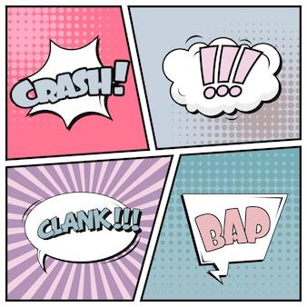 Comic im pop-art-stil