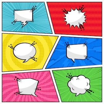 Comic-pop-art-stil des baloon-textes