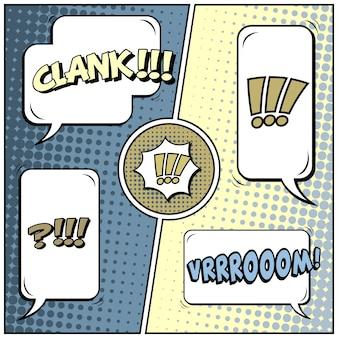 Comic pop-art-stil leer
