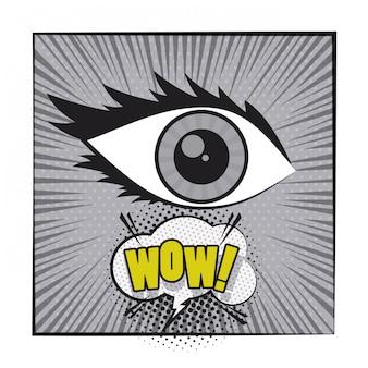 Comic-pop-arten-karikatur in schwarzweiss