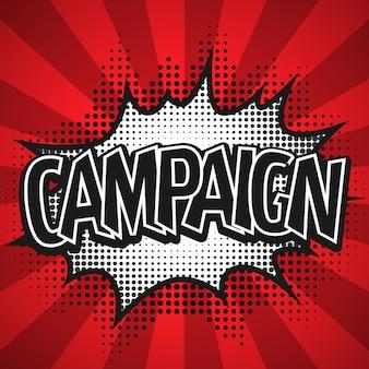 Comic-sprechblase. kampagnenillustration