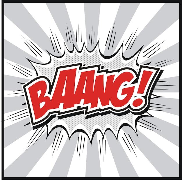 Comic-sprechblase mit bang! worte symbole retro comics