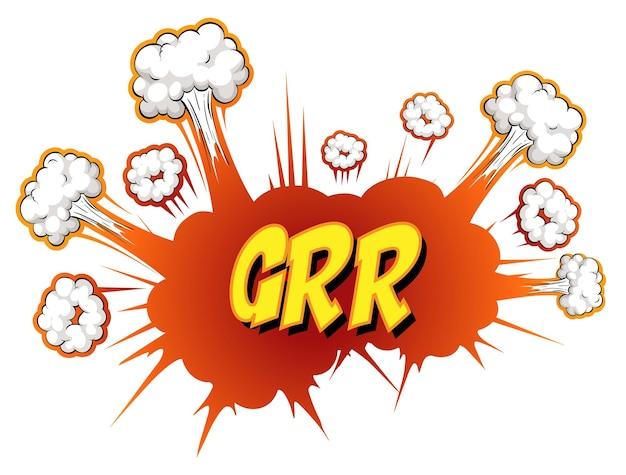 Comic-sprechblase mit grr-text