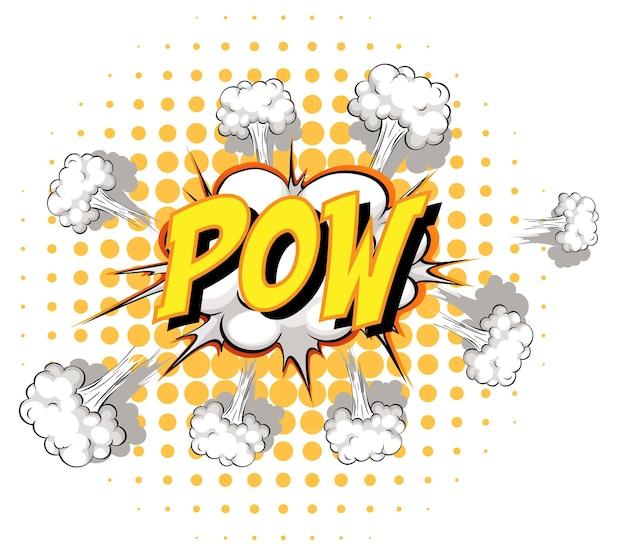 Comic-sprechblase mit pow-text