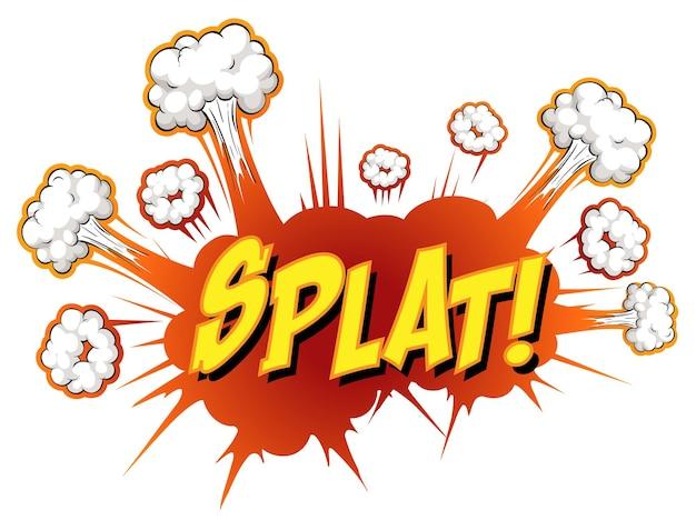 Comic-sprechblase mit splat-text