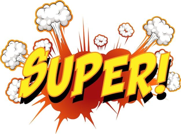 Comic-sprechblase mit super text