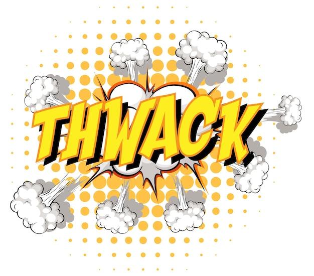 Comic-sprechblase mit thwack-text