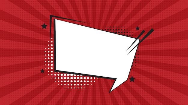 Comic-sprechblasen mit verschiedenen emotionen oder comic-text-pop-art-stil vektor hell