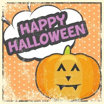 Comic-stil halloween-karte