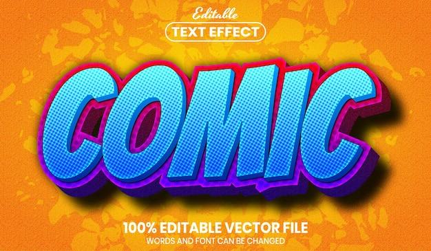 Comic-text, bearbeitbarer texteffekt im schriftstil