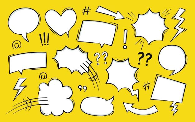 Comic-text-sprechblase im pop-art-stil mit halbton- und blitzbolzen.