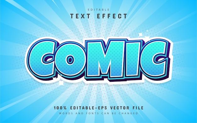 Comic-texteffekt mit blauem farbverlauf