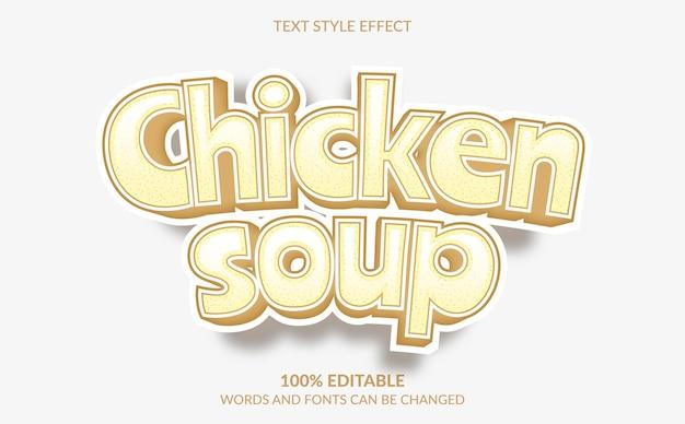 Comic-textstileffekt hühnersuppe textstil
