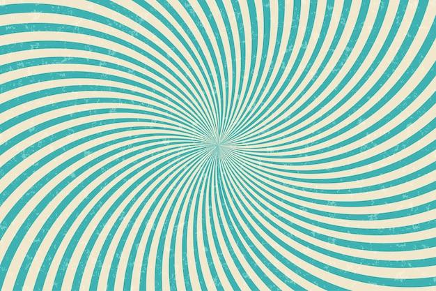 Comic-vintage-zirkus-vektor-banner. spinnende grüne streifen im hintergrund. sonnenstrahlen retro-grunge-poster. radiale burst-darstellung