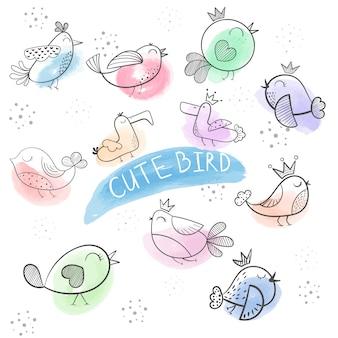 Comic vogel