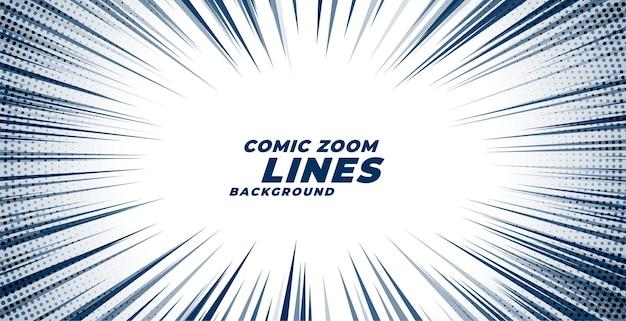 Comic zoom bewegungslinien hintergrund