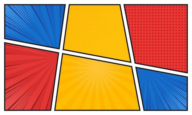 Comics in verschiedenen farben.