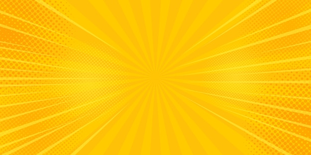 Comics rays fahnenhintergrund mit halbtönen.