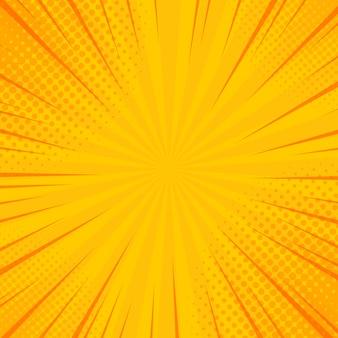 Comics rays hintergrund mit halbtönen.
