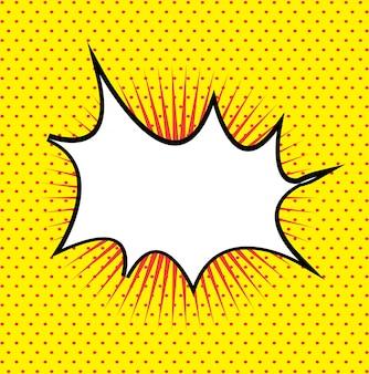 Comics signalisieren gelb