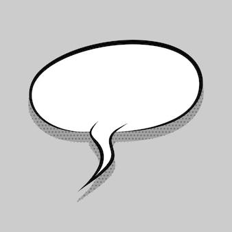 Comics-sprechblase für text-pop-art-design weiße leere dialogwolke für textnachrichten-tag