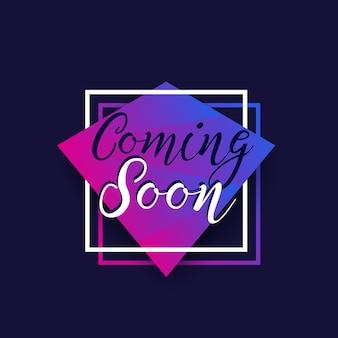 Coming soon banner-design, vektor
