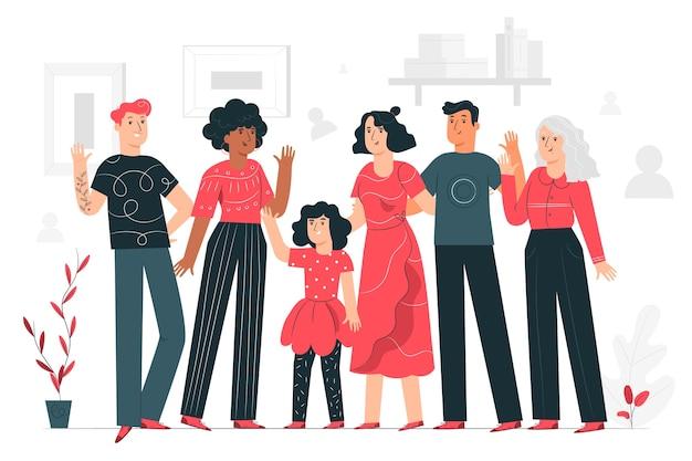 Community illustration konzept