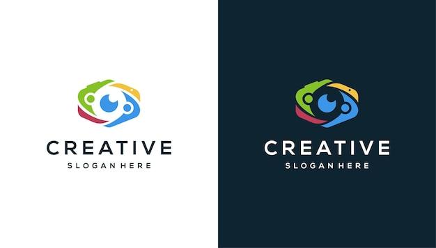 Community kamera, fotografie logo-design
