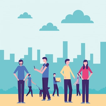Community menschenaktivität