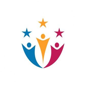 Community- und charity-logo-vorlage