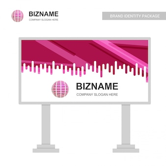 Company bill board mit kreativem design