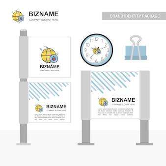 Company bill board mit kreativem design