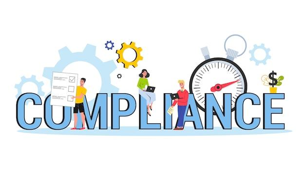 Compliance-konzept. idee einer geschäftsvereinbarung