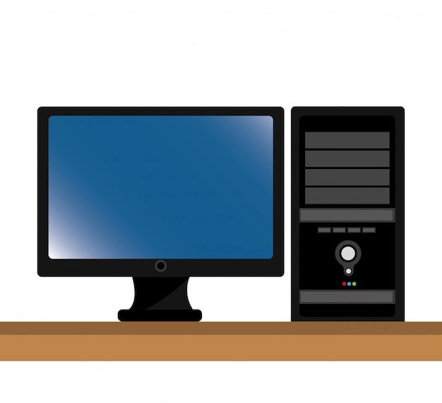 Computer desktop isoliert symbol design