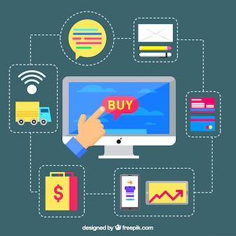 Computer, e-commerce und netzwerk