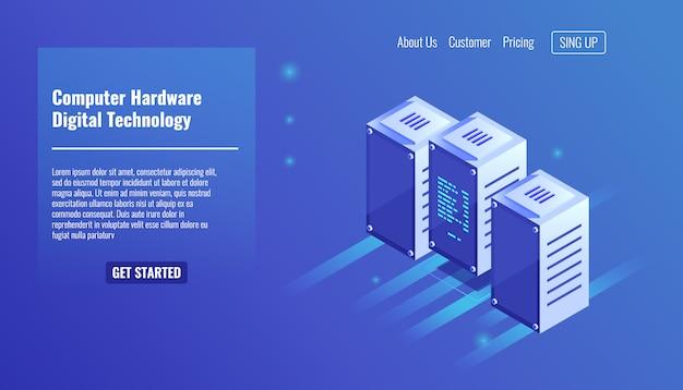 Computer-hardware, serverraum, rack, digitaltechnik, rechenzentrum