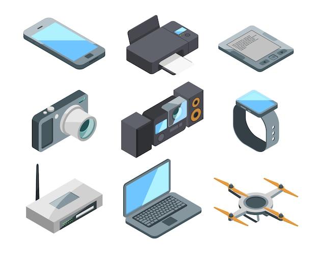 Computer, laptop, smartphone und andere elektronische geräte lokalisiert.